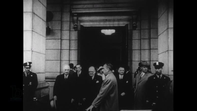 United States, 1950s: Vincent Auriol greets Harry Truman