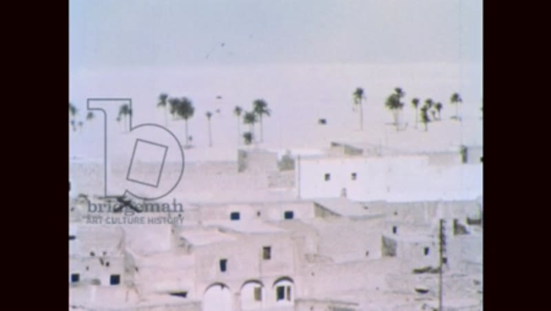 NORTH AFRICA: BUILDINGS IN REMOTE DESERT.