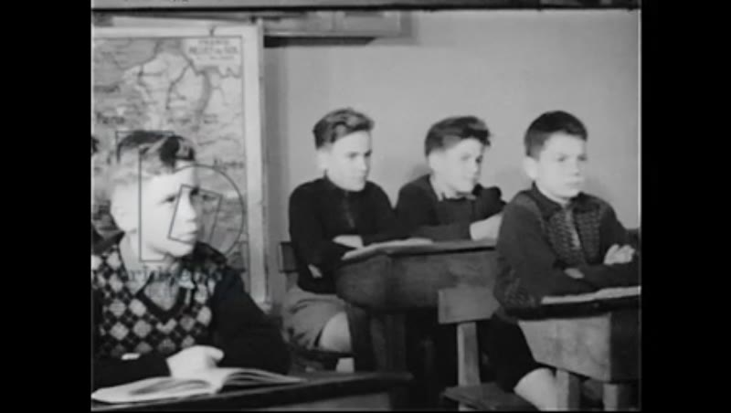 Military display and school, France, 1940s