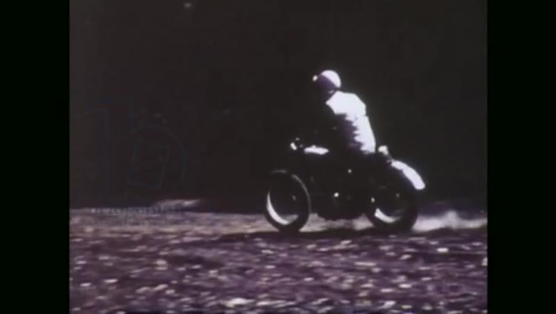1970s, Man biker, rider in trees