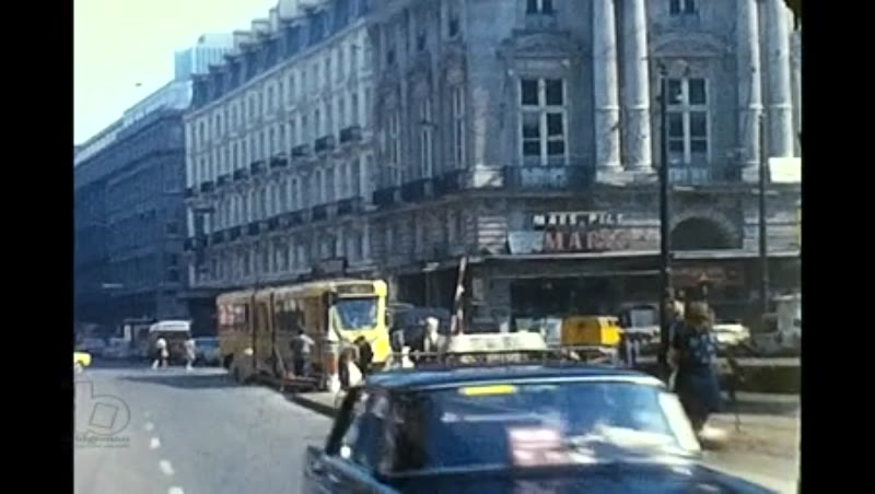 Rtes 62 102 Rue Royale Wmpte and Mid Red Buses Birmingham, Brussels Trams, 1974