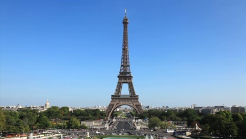 Eiffel Tower and Trocadero Gardens Paris