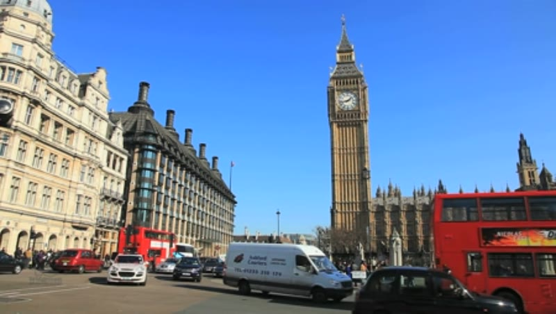 Big Ben and Houses of Parliament at Westminster in London