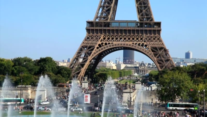 The Eiffel Tower and Champ de Mars Paris