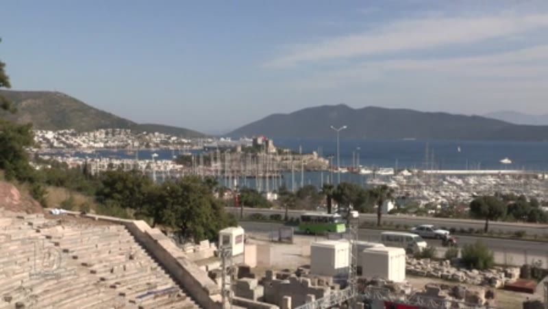 Castle of St Peter and view of the harbour, Bodrum