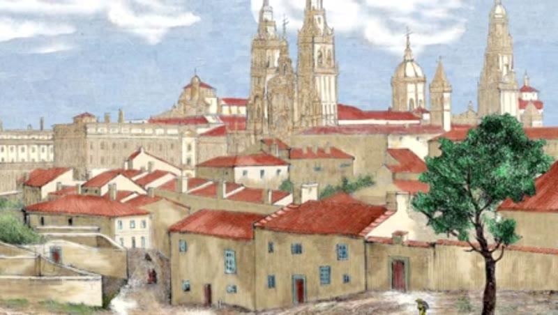 Santiago de Compostela in Galicia, Spain