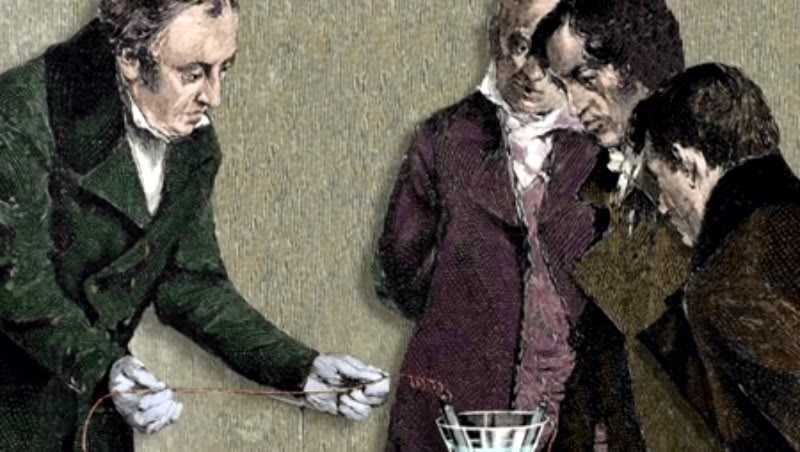 Hans Christian Oersted (1777-1851) discovers electromagnetism
