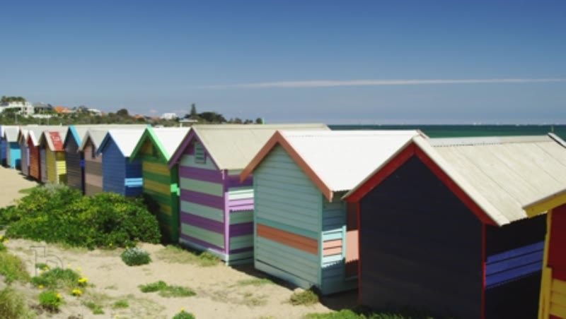 Colourful Beach Houses at Brighton Beach