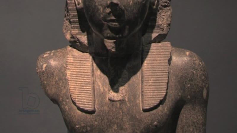 Statue of Ramses II, Hawass Museum,  Egypt. Full tilt.