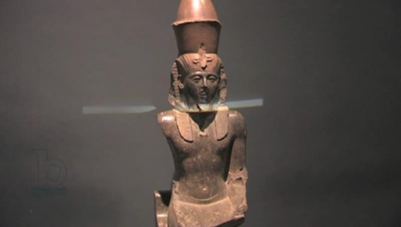 Statue of Ramses II, Hawass Museum,  Egypt. Lockdown.