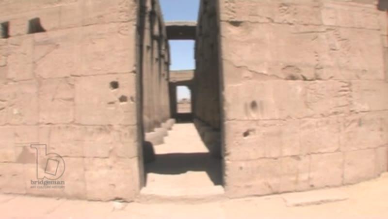Karnak Temple, Egypt. POV travelling shot.