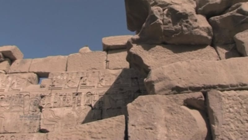 Walls of the Karnak Temple, Egypt. Details.