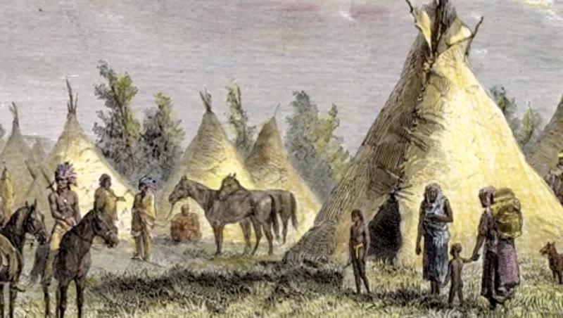 Sioux Camp near Fort Laramie.