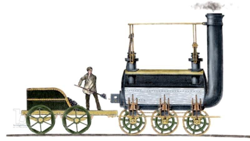 Locomotive designed in 1814 by George Stephenson