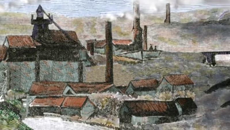 Coal mining. Herscheuse Mining. Quaregnon County. Belgium.