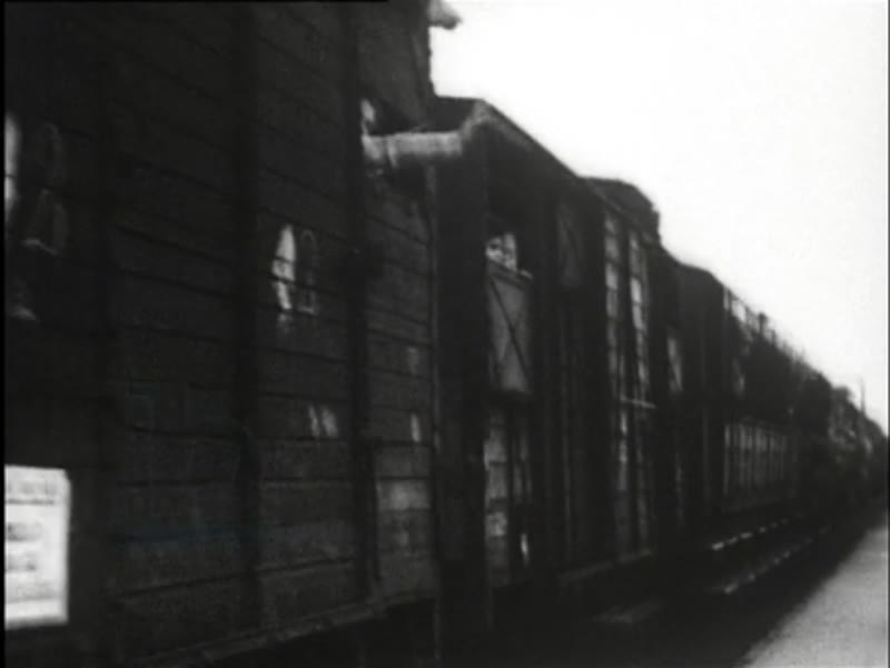 Train with Jews leaves Westerbork heading to the concentration camps