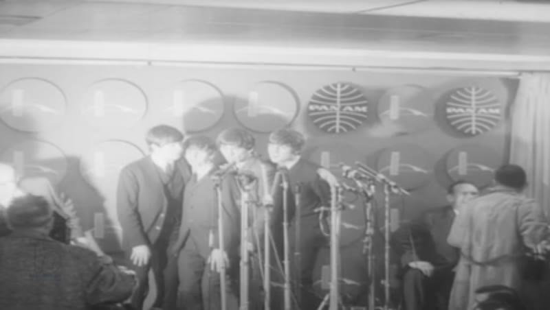 The Beatles arrive in New York, 1964