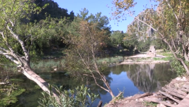 Ancient Ruins, River