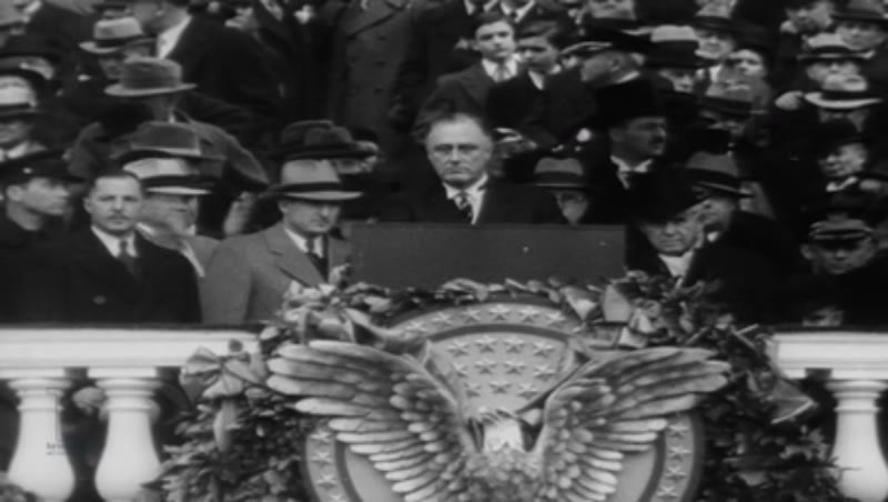 Excerpts from President Franklin D. Roosevelt first inaugural speech, Washington D C, March 4th 1933