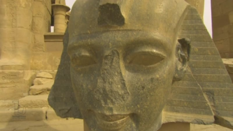 Colossal head of Ramses II