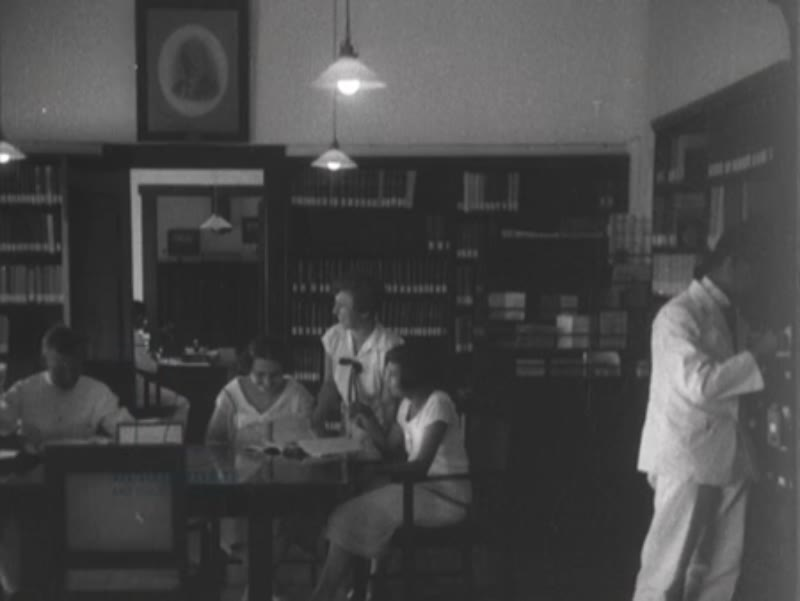 People reading in the library in Bandung, Indonesia, 1929.