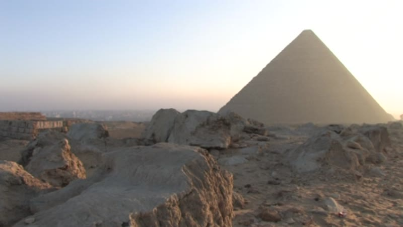 The Great Pyramid at sunrise