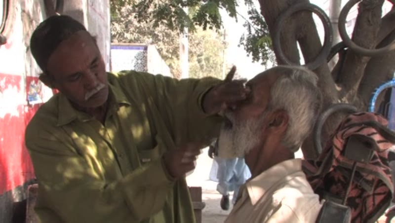 Barber Shops on the streets of Karachi