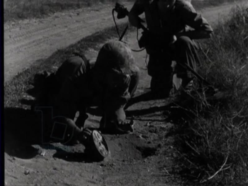 Dutch marines train in mine clearance, Java, Indonesia