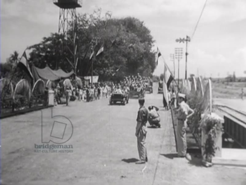 Opening of the restored Waroe bridge, which had been destroyed by Indonesian extremists
