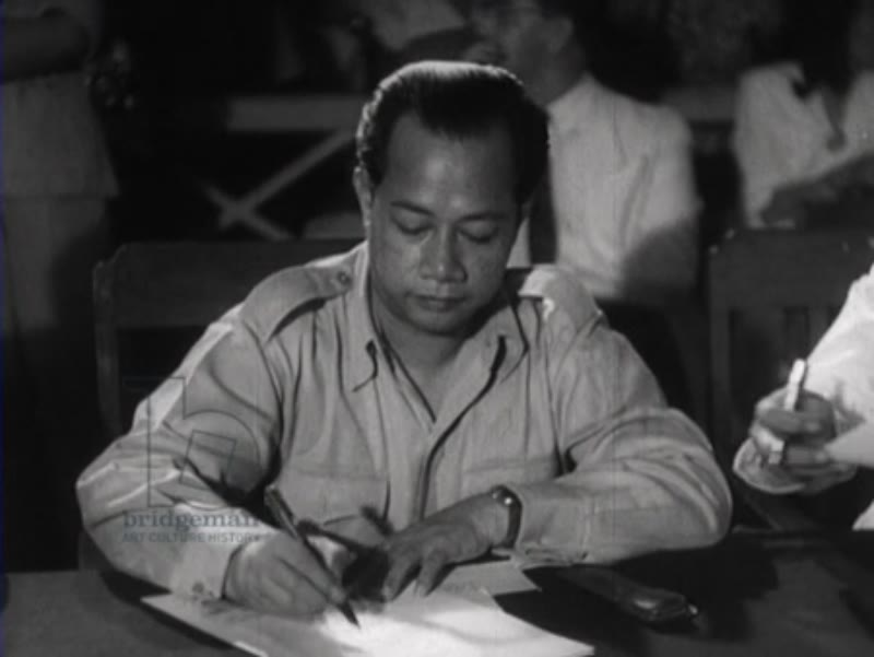 Signing of the Constitution in Indonesia, 1949