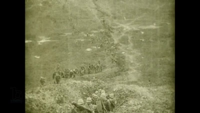 Battle of Verdun, 1916. German POWs, the surrender of German troops. Message from General Nivelle to French troops.