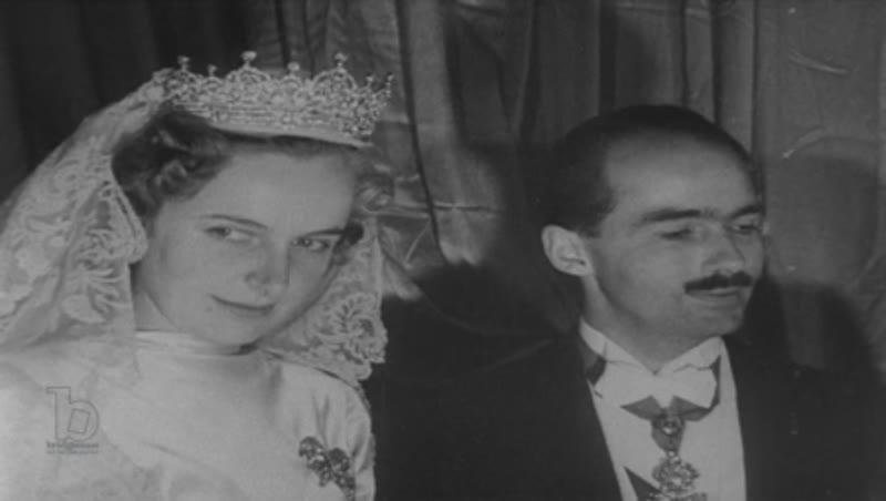 The wedding of Regina Saxe-Meiningen and Otto von Habsburg in France, 1951
