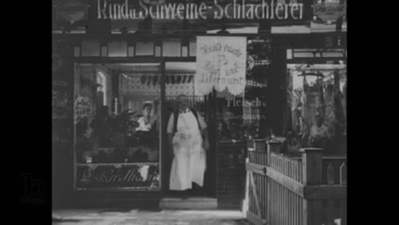 Shops and market stalls in Berlin 1924-1928