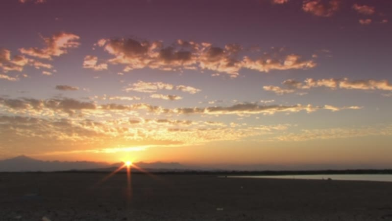 Beach on the Red Sea sunset time lapse 1