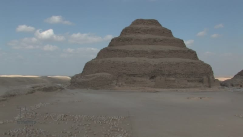 The step Pyramid of Djoser, at Saqqara 1