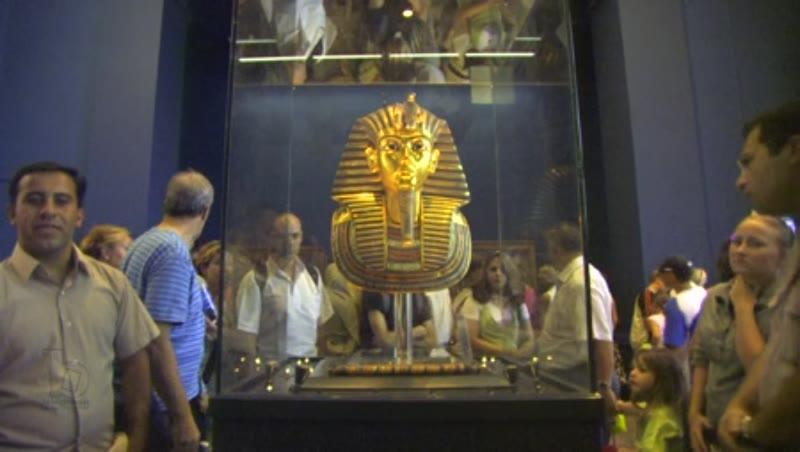 The Mask of Tutankhamun at the Egyptian Museum 2