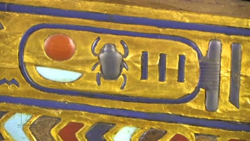 Detail of the second coffin of Tutankhamun 1