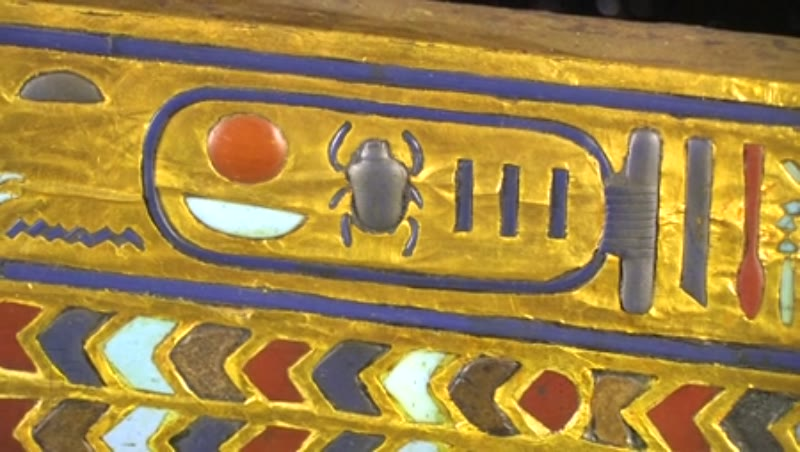 Detail of the second coffin of Tutankhamun 2