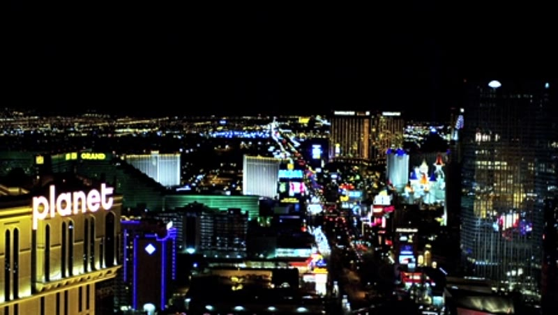 The Strip at night, Las Vegas