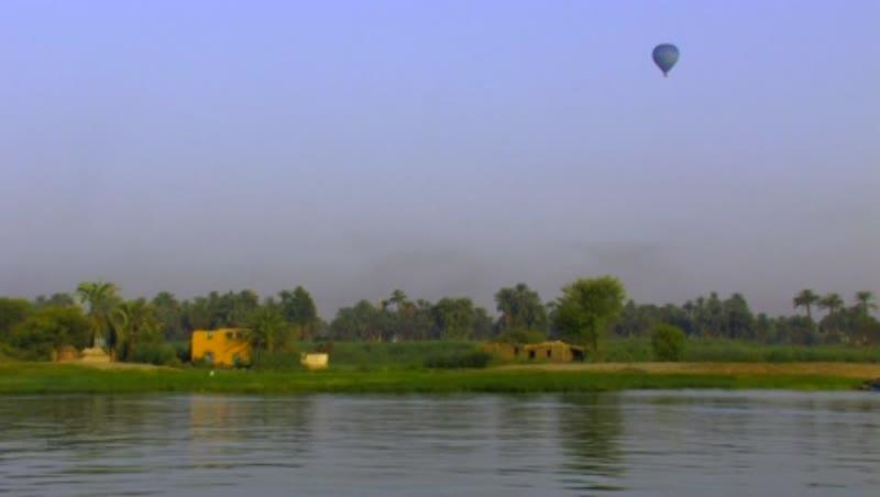 Air balloon over West Bank fields 1