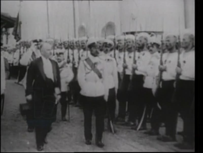 Kaiser Wilhelm departs on vacation. President Poincaré visits Tsar Nicholas II in Russia where there is a military parade.