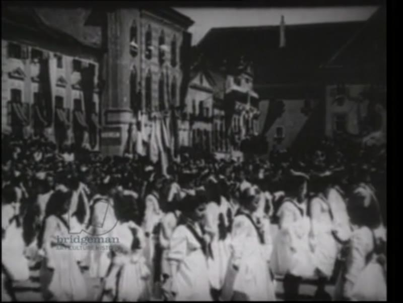 Austrian girls perform a dance to celebrate the Summer, on the day of Franz Ferdinand's assassination.