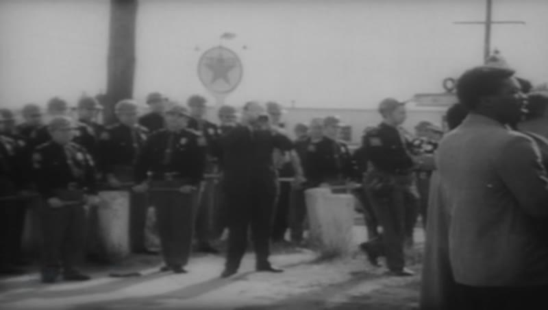 Universal News bulletin depicting the Selma to Montgomery March of 1965.