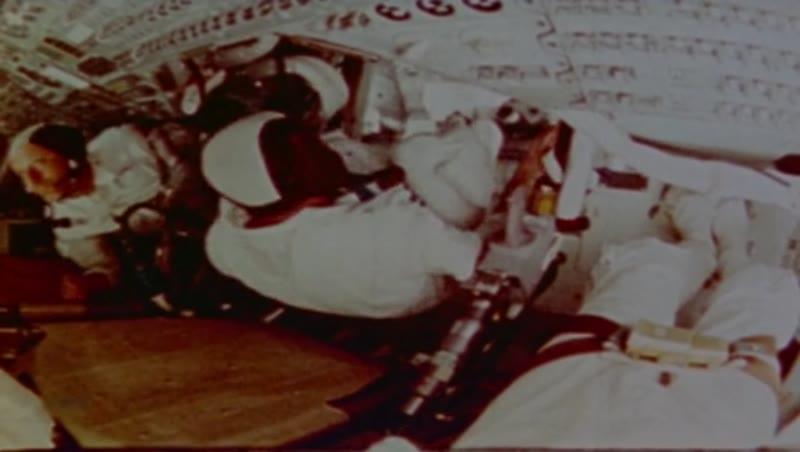 Nasa's Apollo astronauts have fun with zero gravity, 1969
