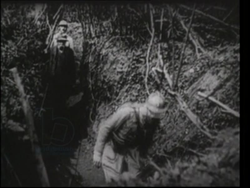 French Prime Minister Georges Clemenceau visits trenches, 1917
