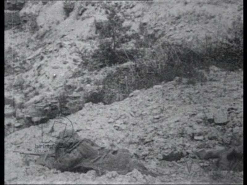 Snipers crawl into No Man's Land, France 1918