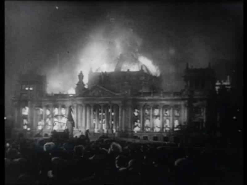 Nazi rallies, Reichstag fire of 1933, Antisemitism, Nazis burning books, Charleston dancing