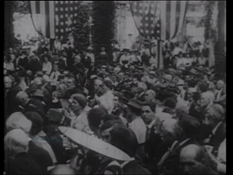 Lusitania memorial, anti-war parade, pro-war rally, Roosevelt and Wilson, 1915, 1917, WWI