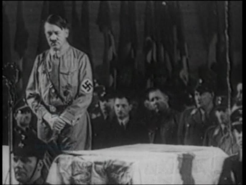 Hitler gives his first speech as Chancellor of the Reich. February 10th 1933.